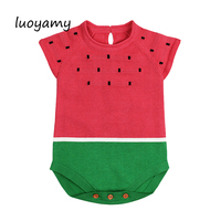 luoyamy Baby Girl Bodysuits Cartoon Watermelon Overalls For Newborns Short Sleeve Body Suits Children Funny Summer Clothes
