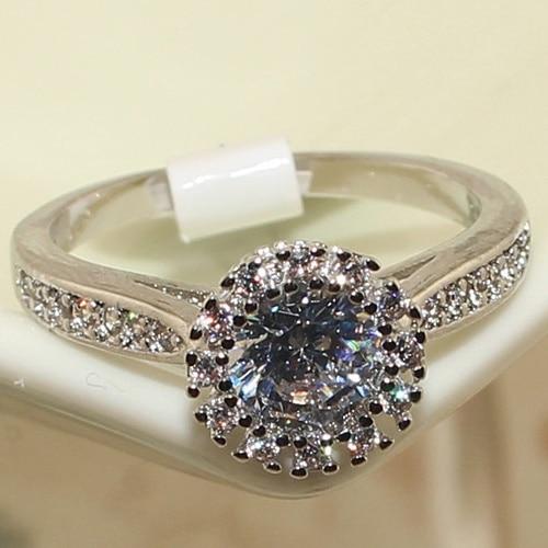 Crown design Romiantic Round Zirconia Diamond Wedding Finger Rings