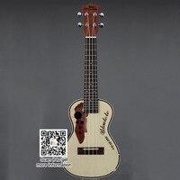 23 inch spruce Sapele electric box small guitar Ukulele ukulele wood color UK2000 ukulele
