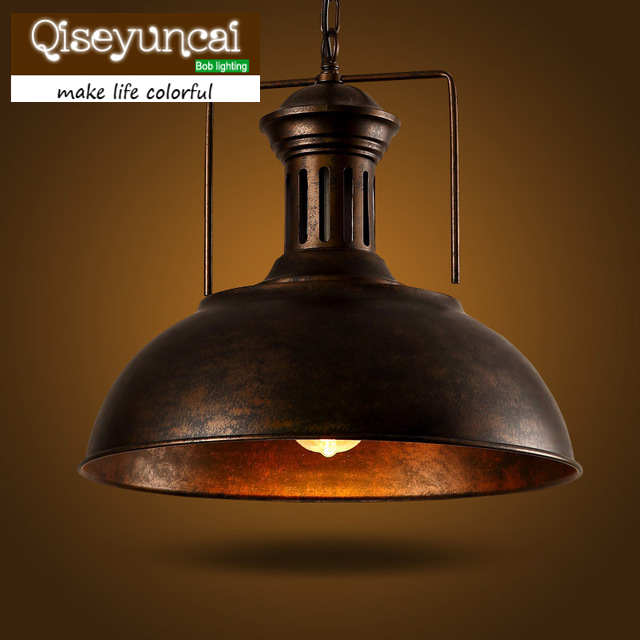 2015 LOFT bar pendant light creative personality retro American Iron Cafe Restaurant lid Nordic цена и фото