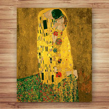 NEW by numbers Woman with a fan Gustav Klimt picture Abstract figure pictures painting kits for hoom decor(China)