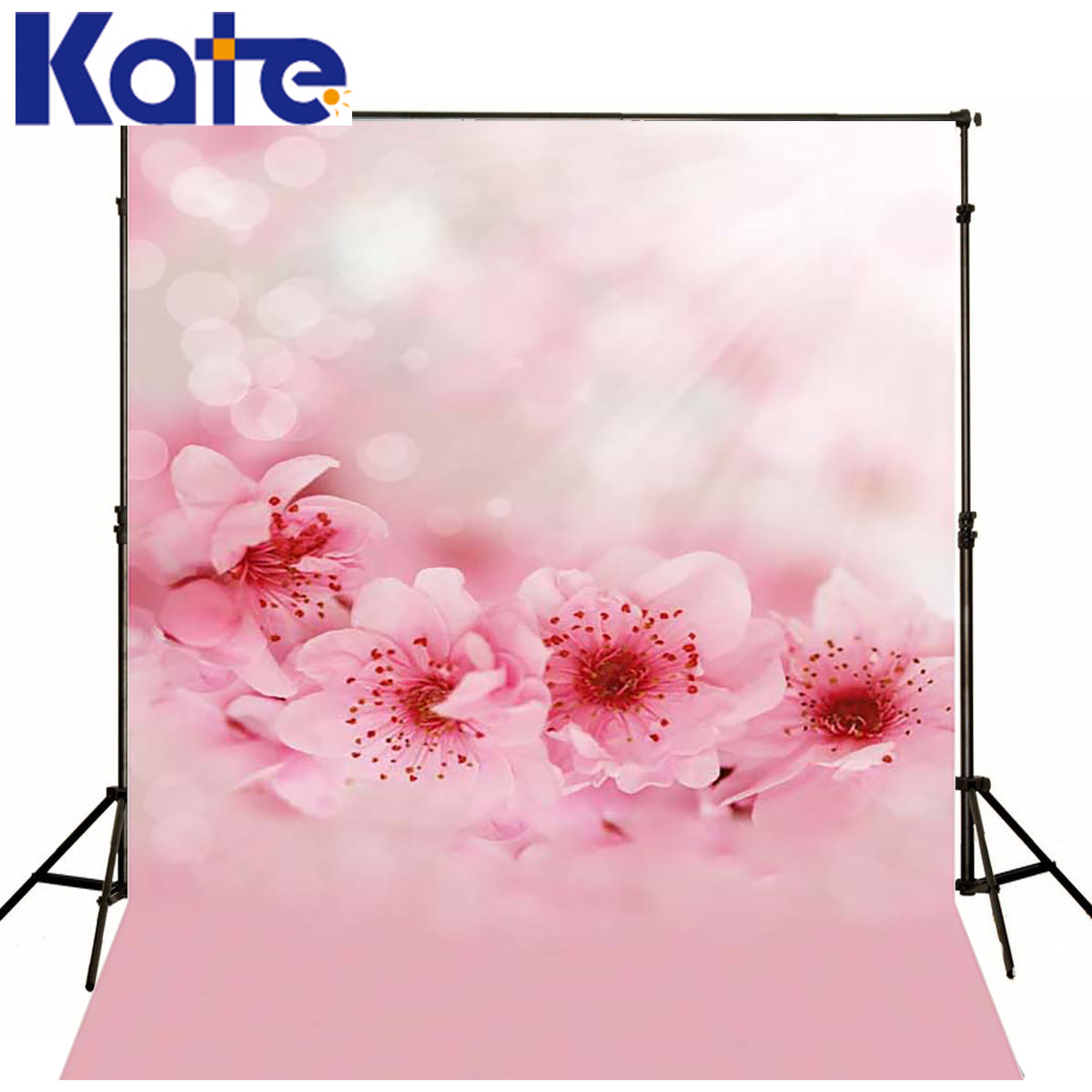 Photo Background Sunshine Aura Photography Baby Backdrop Pink Flowers Digital Studio Background