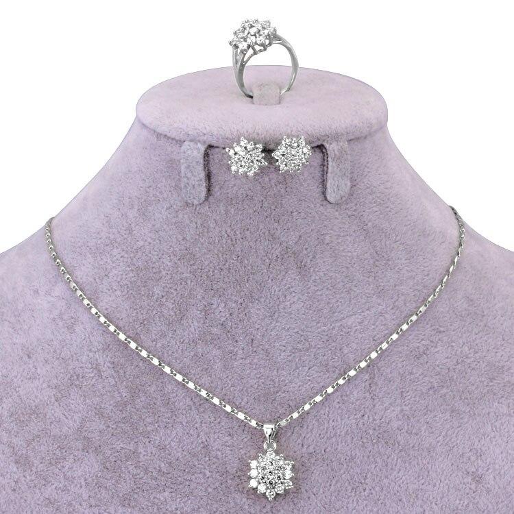 50% OFF African Jewelry Set Women Necklace Pendant Earrings Ring Bijoux Mariage Sieraden Jewlery Sets Taki Seti Jewellery S0278