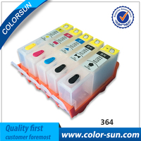 5pcs Refillable Ink Cartridge For HP 364 XL For HP Pro 5520 5524 6510 6520 7510