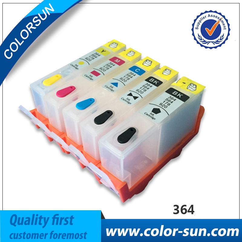 5pcs Refillable Ink Cartridge for HP 364 XL For HP Pro 5520 5524 6510 6520 7510 B109 B110 B209 B210 C309 C310 D5460 With Chip 850ml compatible empty refillable ink cartridge for epson stylus pro 10000 pro 10600 10000cf printers cartridge with chip t499