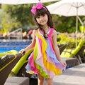 Bebé Niña Ropa de Verano Vestido de la Princesa 2016 Muchachas Del Niño colorido Niños Vestidos para Niñas Niños Diseñador Vestido HB1119