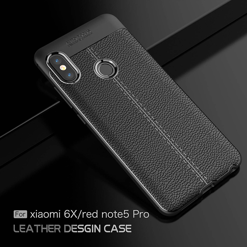 separation shoes f982e ebdc5 US $3.03 24% OFF| Leather Cases For Xiaomi Redmi Note 5 Pro Case 5.0 inch  New Luxury Shockproof Soft TPU Cover for Xiaomi Mi 6X M6X Cover-in ...