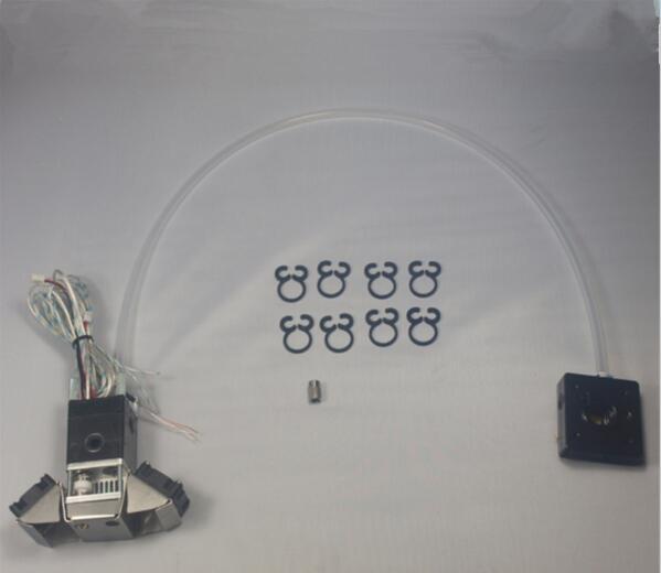 Ultimaker 2 pièces d'imprimante 3D kit complet d'extrusion et tête d'impression d'extrudeuse kit/ensemble bowden tube 3mm grande qualité