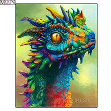 MOONCRESIN DIY Diamond Painting Cross Stitch Cartoon Dragon Embroidery Square Drill Mosaic Needlework Decoration
