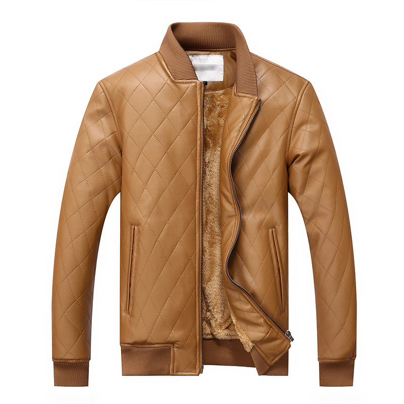 2017 sıcak erkekler sıcak deri ceketler motosiklet ceket rüzgar - Erkek Giyim - Fotoğraf 4