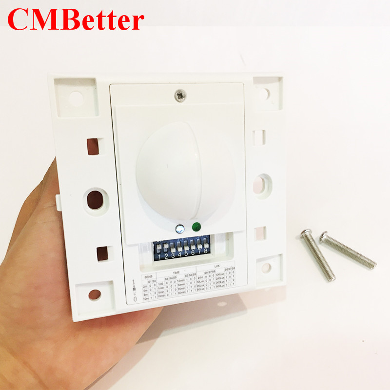 220v Microwave Radar Sensor Switch Ceiling Lamp Light Stairs Human Body Motion Induction Switch Sensing Adjustable time Detecton 220v microwave radar sensor inductive light switch pir occupancy body motion sensing detector 1200w for lamps