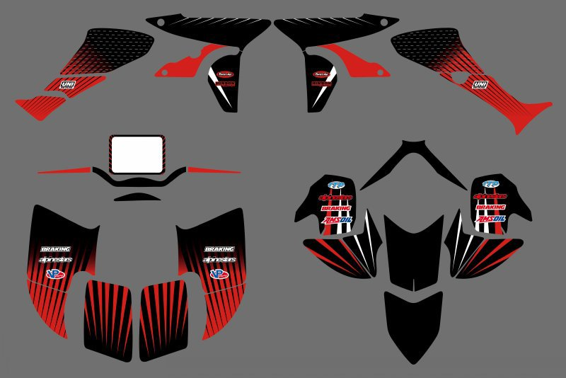 0350 New STYLE  DECALS STICKERS  Graphics Kits Fit for Honda TRX450R TRX 450R fourtrax ATV 0224 new style team graphics