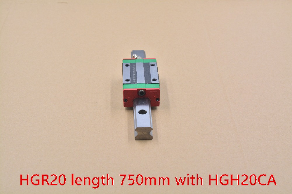 ФОТО HGR20 linear guide width 20mm length 750mm with HGH20CA linear motion slide rail for cnc xyz axis 1pcs