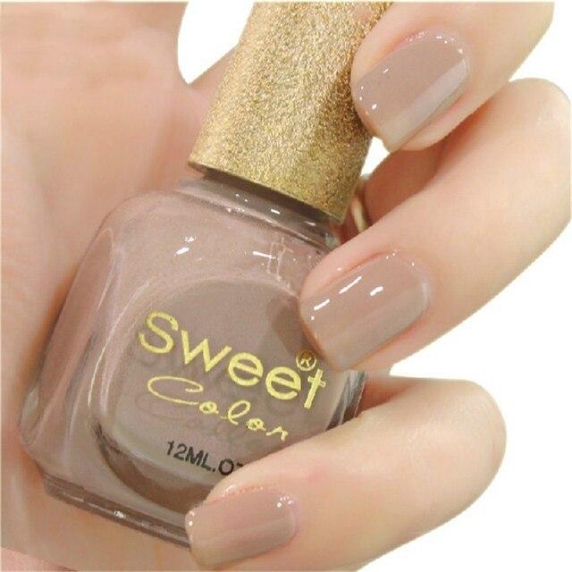 1 botella sweet color de esmalte de uñas 12 ml elegante desnuda s321 ...