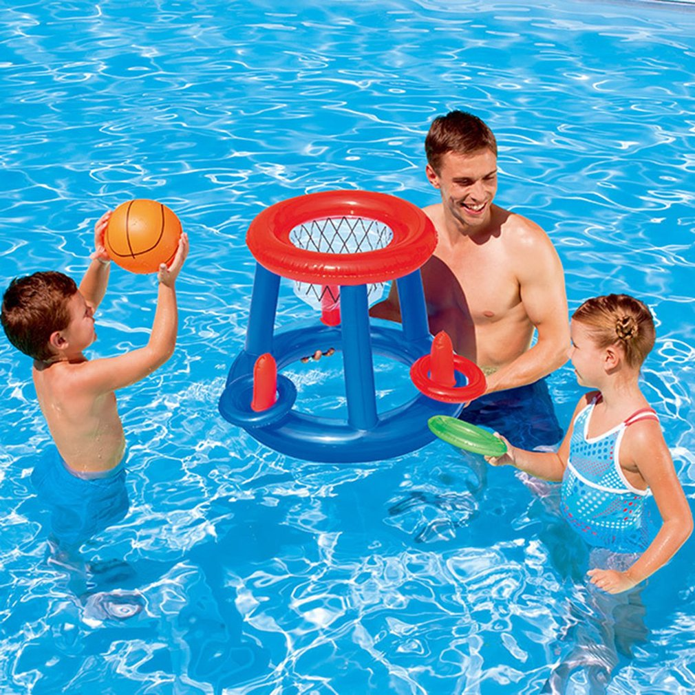 Pool Fun Home & Garden Pool Floating Basketball Hoop Play Center Inflatable Float