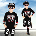 Children's Clothing Sets Kids Boy Letter Clothes Set Child Male Camouflage Sporting Suits Boy Tops + Pants 2 Suit Piece W11259