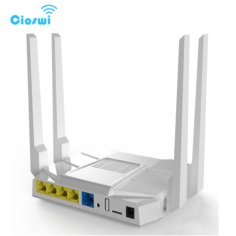Image 5 - 2.4g/5g wifi router with sim card slot ac1200Mbps dual band openWRT 512MB with 4*5dbi external antennas soho gigabit router-in Wireless Routers from Computer & Office