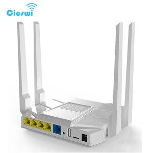 Image 5 - Фрезерный двухдиапазонный Wi Fi роутер с разъемом для sim карты, 2,4 Мбит/с, openWRT, 512 МБ, 4*5 дБи, внешняя антенна, гигабитный роутер soho