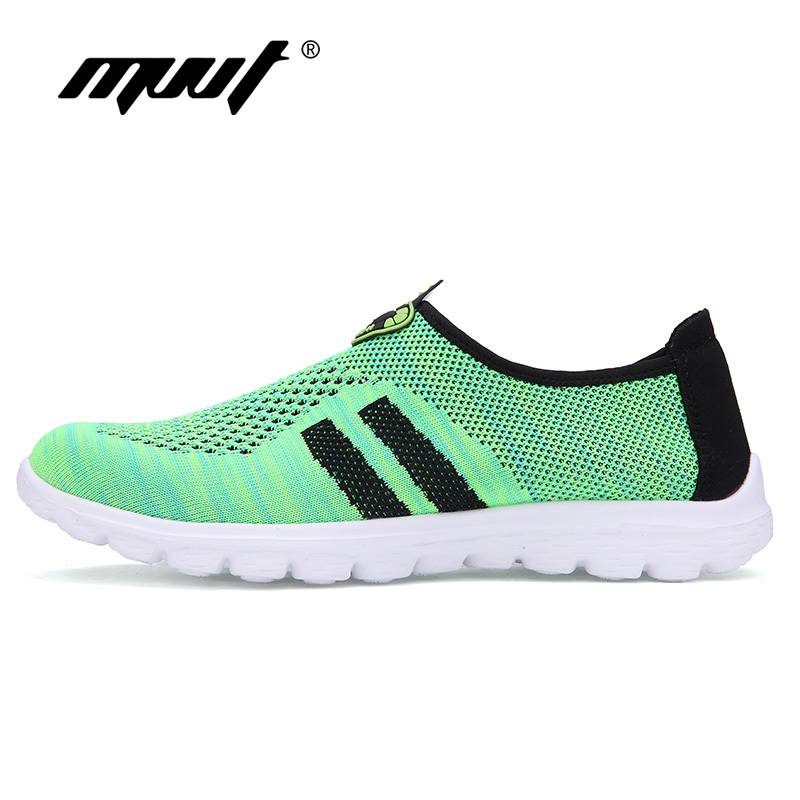 2016 comfortable breathable mesh shoes Super Light running shoes women sneakers super cool Slop On flats Couples sports shoes