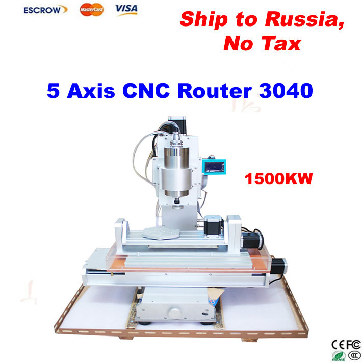 5 axis CNC Router Machine,CNC 3040 engraving machine with High-Precision Ball Screw Table Column Type, free tax to Russia  high precision table moving 4 axis cnc mini router 3 axis mini cnc router metal engraving machine 3030 4040 6060