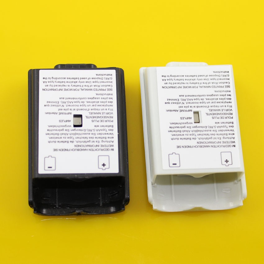 ChengHaoRan 100pcs lot Black White Optional Plastic Battery Pack Battery Cover Case Replacement for Xbox 360