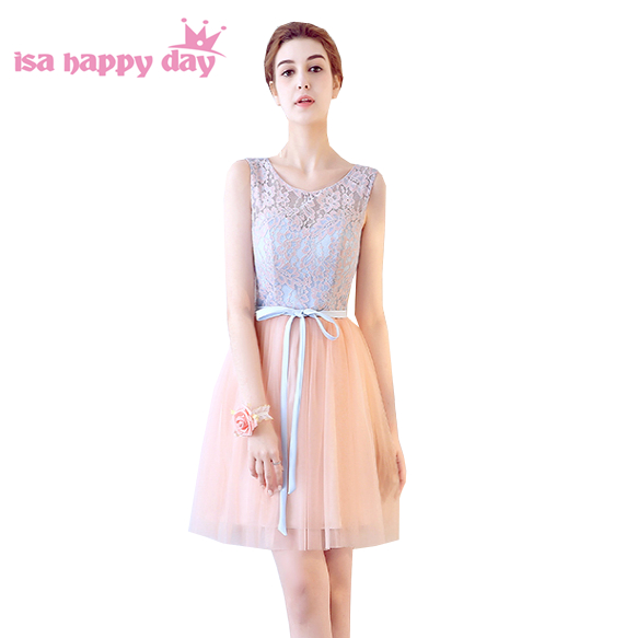 lace up tulle vintage   bridesmaid     dress   sister of bride braidsmaid girl bridemaids   dresses   teen girls partys -sizes H4126