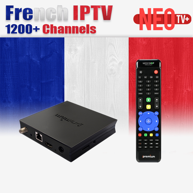 IPTV Smart Android TV Box NEOTV IPTV Europe French Canal+ Iptv Belgium Arabic Tunisia Morocco TV Set top Box Support CCCAM