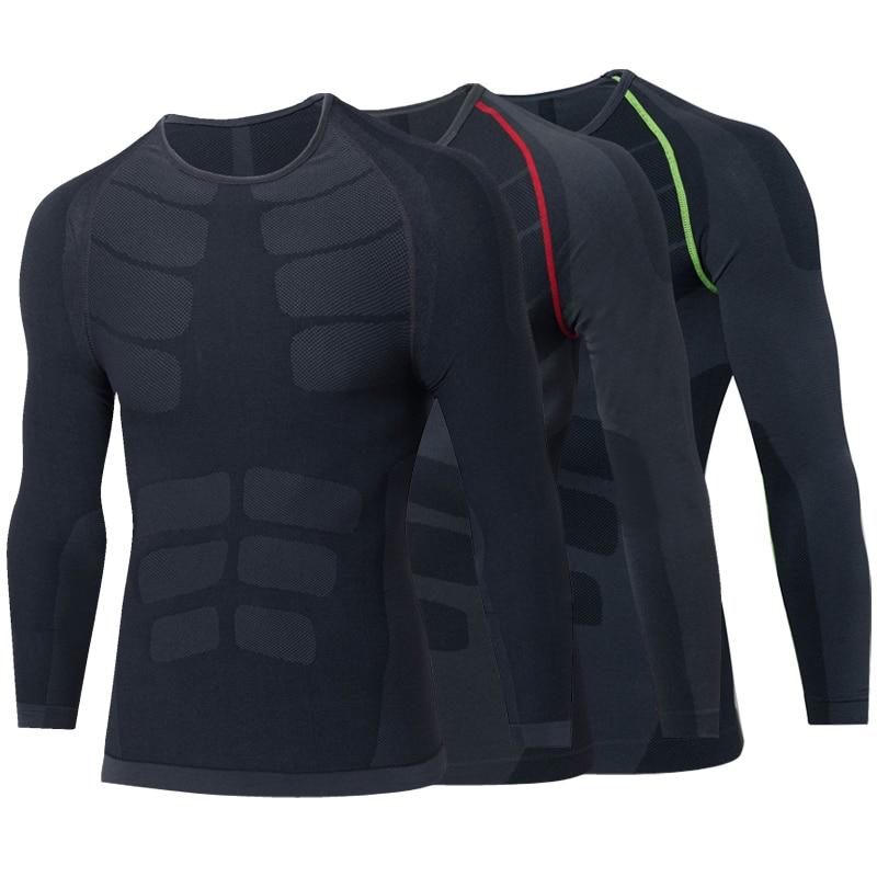 T-shirt da uomo Yuerlian Compression Maglia aderente da fitness Tuta - Abbigliamento sportivo e accessori
