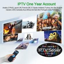 Iptv 1 ano de assinatura livre 2900 + Europeia/Francês/Árabe/África chs 4 k Android Smart TV IPTV caixa-Abonnement gratuit 12 mois