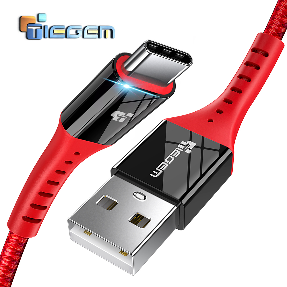 TIEGEM USB Type C Cable USB C Fast Charging Data Cable for Samsung Galaxy S8 S9