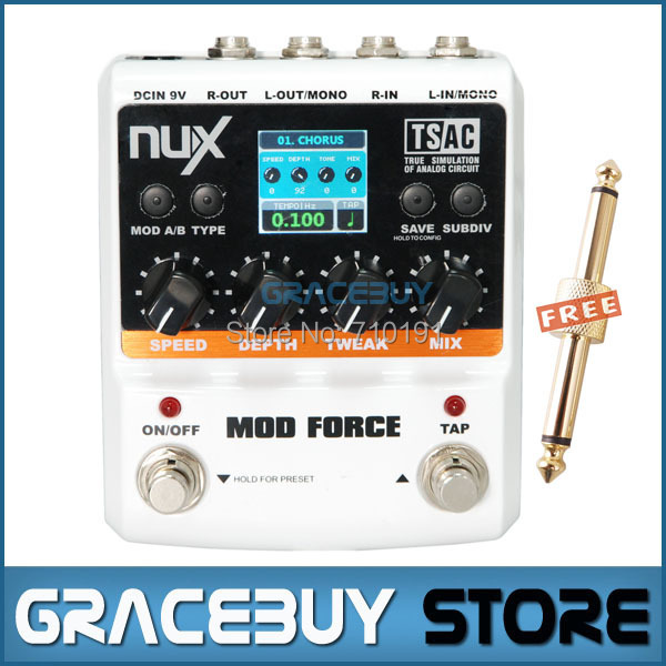 Здесь можно купить   NUX Stomp Boxes 12 Single Electric Guitar MOD FORCE Multi Modulation Effects 8-stage Fhaser Pedal Musical Instrument Спорт и развлечения