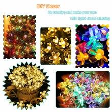 Guirlande solaire Led, guirlande de fleurs, 5m/7m/10m, guirlande lumineuse féerique, éclairage pour fêtes de mariage, décoration intérieure ou extérieure