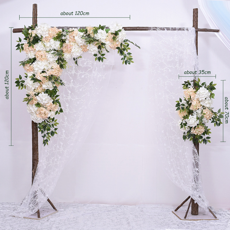 JAROWN Simulation Hydrangea Rose Flower Row Outdoor Wedding Party Arch Decoration Design Floral Set Hotel Background Decor Fleur (17)
