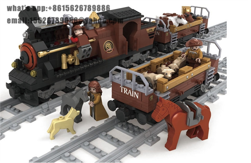Ausini building block set compatible with lego transportation train 004 3D Construction Brick Educational Hobbies Toys for Kids newest track train brick building block set educational diy construction toys for children enlighten bricks compatible with lego
