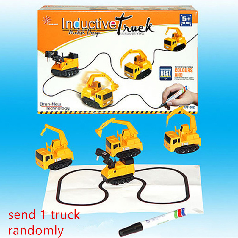 Hot Engineering Vehicles Mini Magic Toy Truck Children 39 s Inductive Truck Toys Figure Tank Car Pen Draw Lines Induction Rail Car in Diecasts amp Toy Vehicles from Toys amp Hobbies