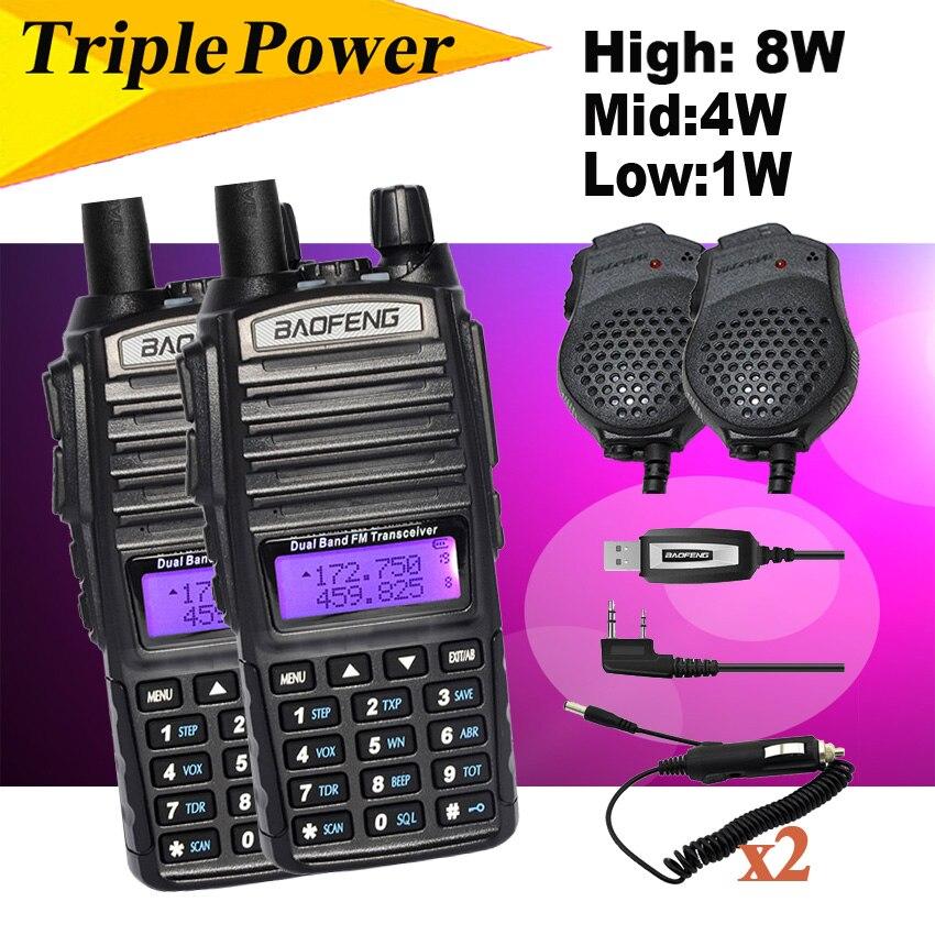 BAOFENG UV 82 UV-5R 8 w UV-82HX Doppio PTT UHF VHF Radio Walkie-Talkie, sorella Ham CB Radio Baofeng UV-82 UV-8D UV-5RA GT-3TP UV-S9