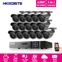 HKIXDISTE Home 16CH CCTV Surveillance System 4MP AHD DVR 16PCS CCTV Cameras 4.0 Megapixels Enhanced IR Security Camera System