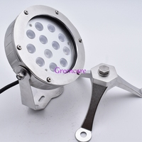 36W IP68 RGB Underwater Led Light For Fountain Pond DC24V White Warm White Color Changing 316