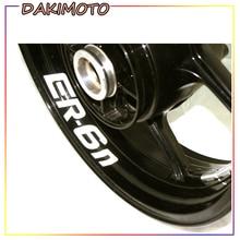 for KAWASAKI ER-6N ER6N ER 6N Motorcycle Stickers Inner Rim Decals Wheel Reflective Stripes