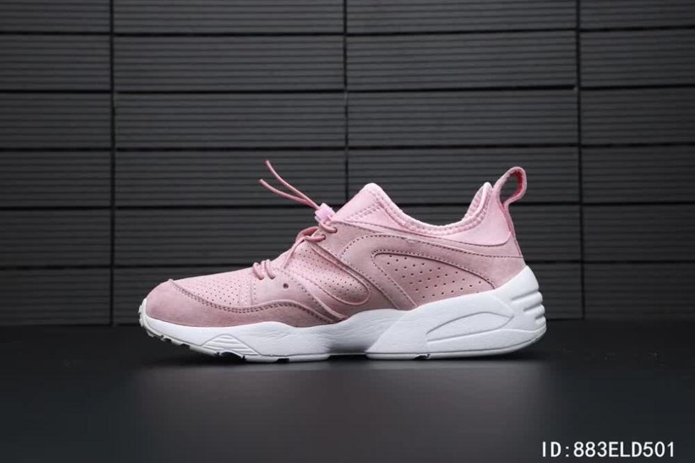 24ff49bfff8e46 2018 Original Puma Phenom Satin EP Women s Pink Sneakers Suede Satin  Badminton Shoes Size 36-40