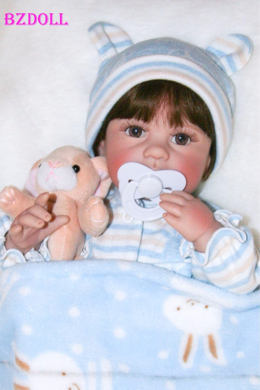 40cm Full Body Silicone Vinyl Reborn Baby Doll Lifelike 16inch Newborn Girls Babies Waterproof Bath Toy
