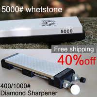 TAIDEA diamante 400 1000 afilador herramientas de piedra y 5000 # whetstone envío gratis picadora de cuchillos de cocina
