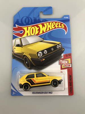 New Arrivals 2018 8j Hot Wheels 1:64 yellow Volks golf mk2 Car Models Collection Kids To ...