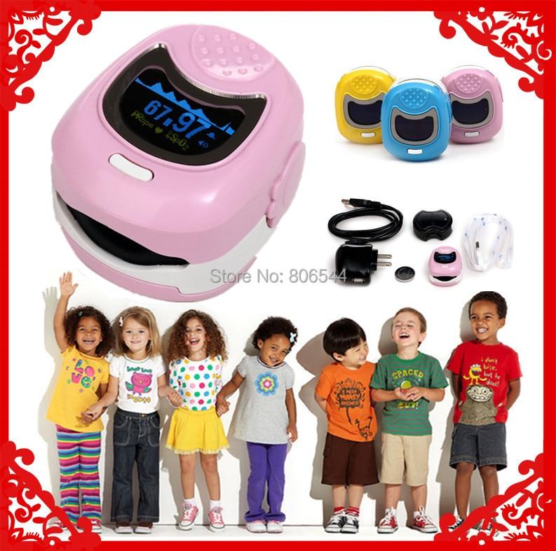 Color OLED Fingertip Pediatric Pulse Oximeter for Children for Child - Spo2 Monitor Kids blood oxygen WW-9S ww vol 01 blood