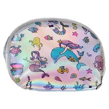 New Cartoon Keyring Coin Purse For Women Leather Wallet Unicorn Flower Girls Small Bag For Coin Card Holder(China)