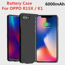 6000mAh Portable Mobile Power Charging Box for OPPO R15X Battery Charger Box for External Power Supply for OPPO K1 Bracket Cover