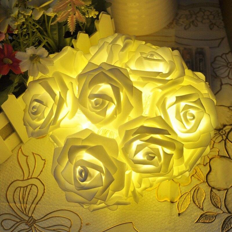 Feimefeiyou 2m 20 LED ruža cvijet LED žarulja žarulje akumulator - Rasvjeta za odmor - Foto 2