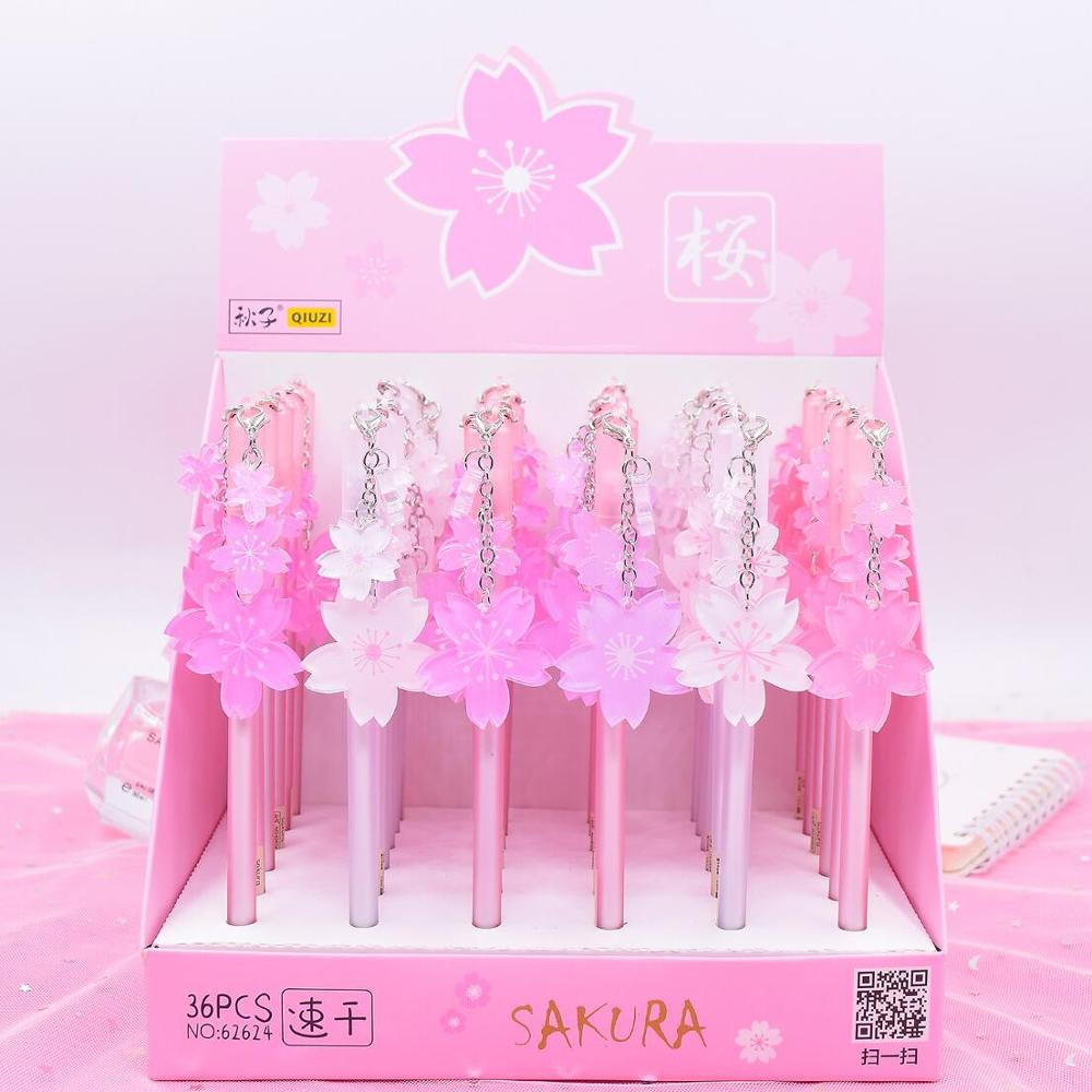 Romantic Cherry Sakura Flower Pendant Gel Pen Ink Pen Promotional Gift Stationery School & Office Supply
