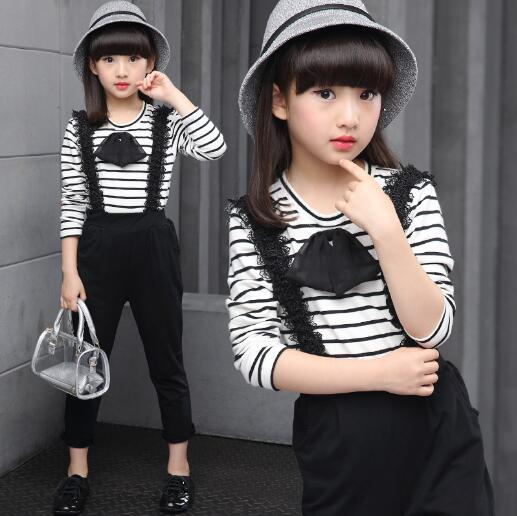 Girls Clothes Set 2018 Spring Autumn Kids Clothing Suits Teenage Girls Long Sleeve Tops+ Pants 2 pcs Sets Children Tracksuits