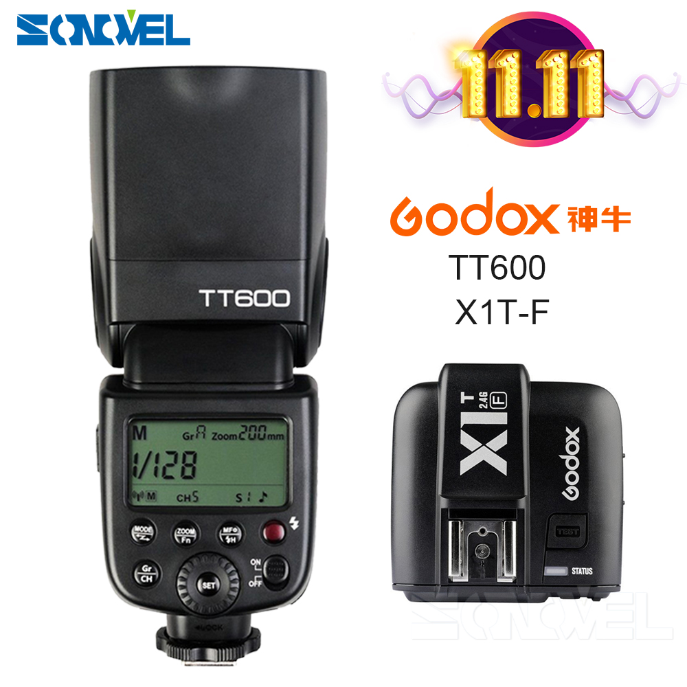 Godox TT600 2.4G Wireless Camera Flash Speedlite + X1T-F TTL 1/8000s 2.4G Wireless Trigger Transmitter for Fujifilm Fuji Camera genuine fuji mini 8 camera fujifilm fuji instax mini 8 instant film photo camera 5 colors fujifilm mini films 3 inch photo paper